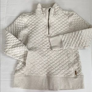 Pullover quarter zip sweatshirt